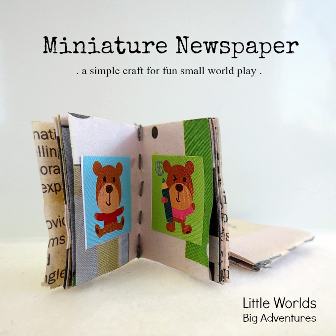 How to Make a Simple Miniature Newspaper