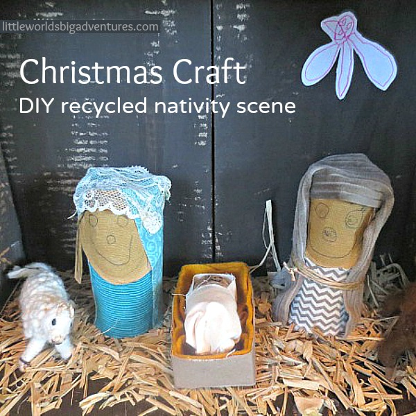 Christmas Craft: DIY Recycled Nativity Scene