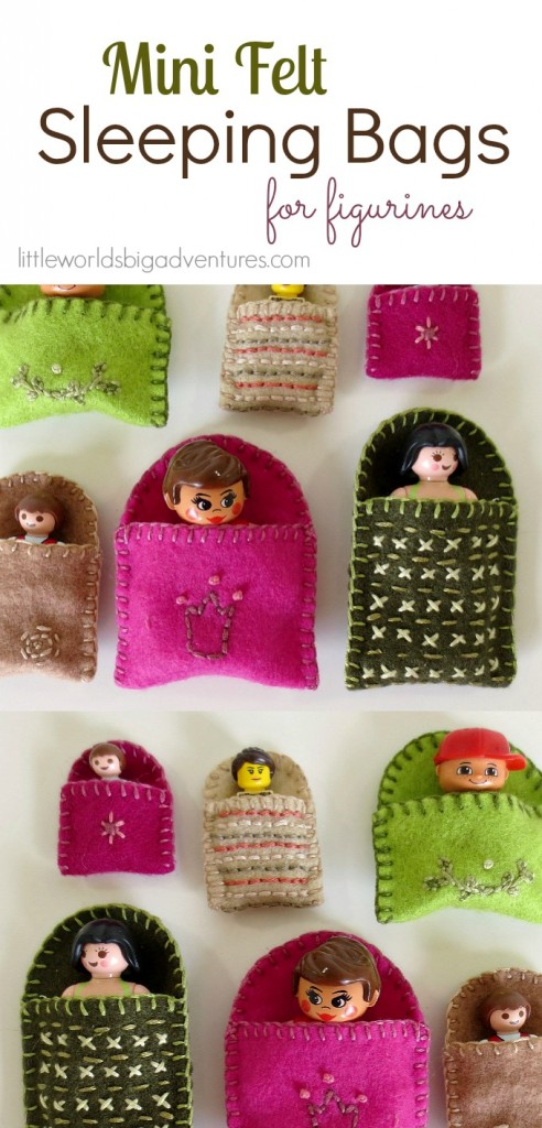 DIY Mini Felt Sleeping Bags for Figurines (Free Patterns!)