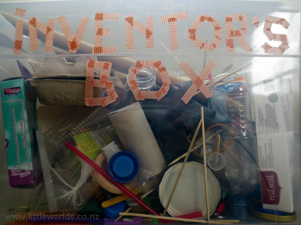 Image Playing with Loose Parts at Home: inventor's box