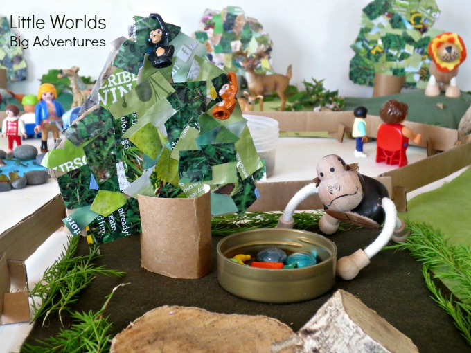 Making a Small World Zoo with Everyday Items