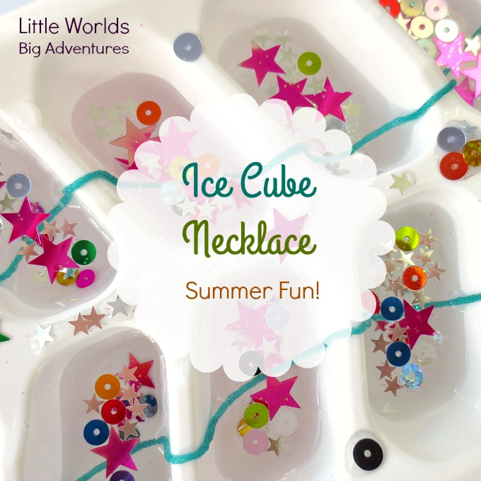 Add to the Summer Fun by Making an Ice Cube Necklace!