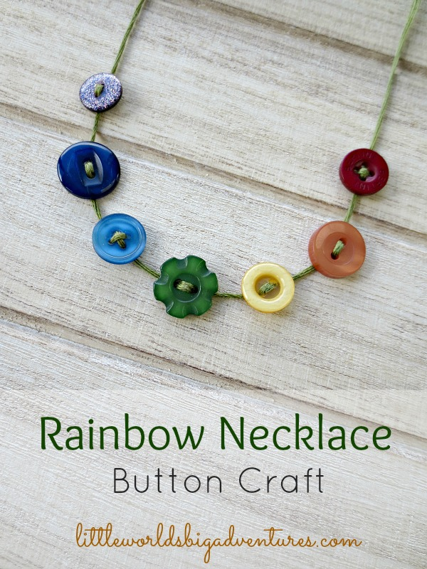 Sweet and Simple Rainbow Necklace Craft