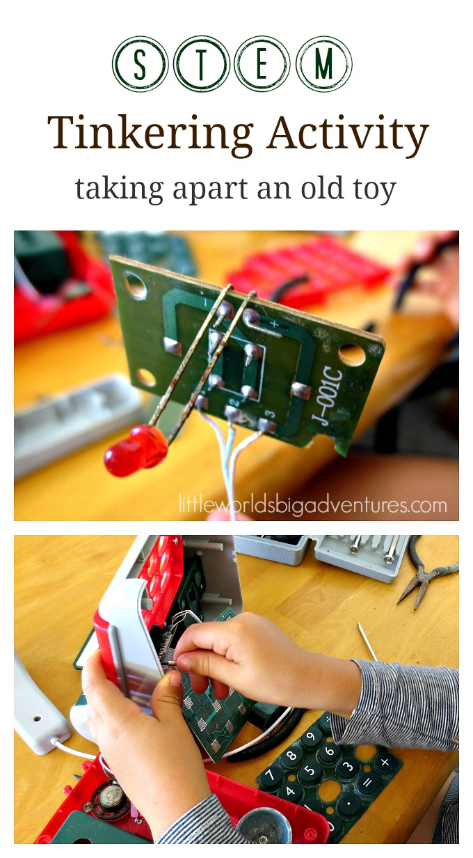 STEM Tinkering Activity: Taking Apart an Old Toy
