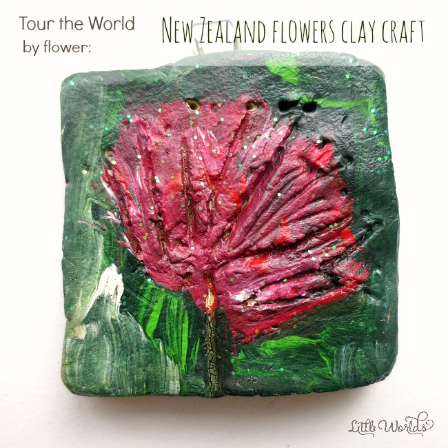 DIY Wall Art: a New Zealand Flowers Clay Craft Idea