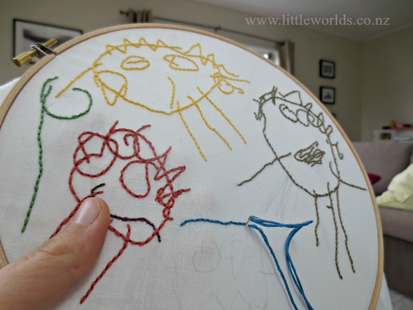 Kids Art Work Embroidery