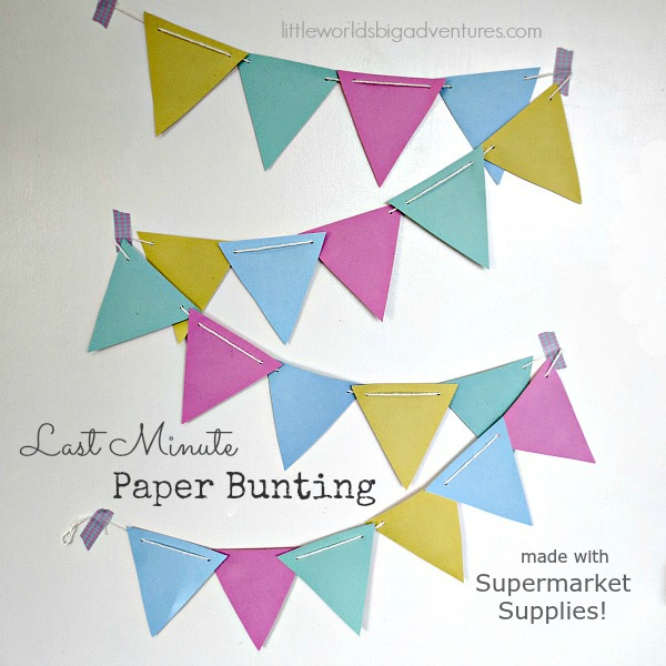 how to make a last minute paper bunting little worlds how to make a last minute paper bunting