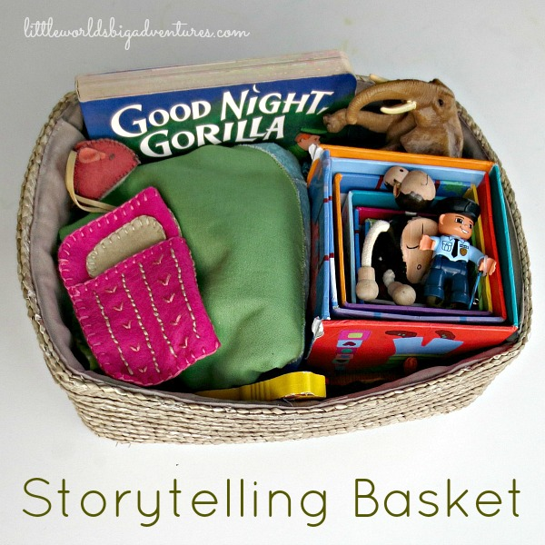 Goodnight Gorilla story basket