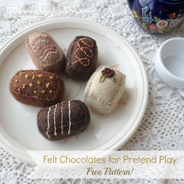 How to make Simple Felt Chocolates (Free Pattern!)