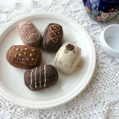 Felt Chocolates for Pretend Play