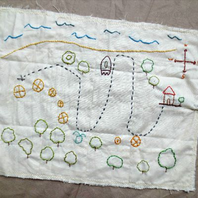 Make Your Own Embroidered Treasure Map