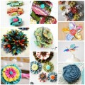 10 Sweet and Simple Fabric Flower Tutorials