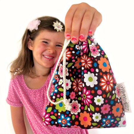 Kid Made Drawstring Bag Tutorial