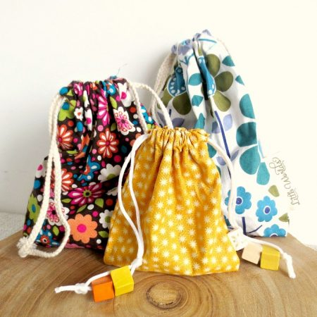 Drawstring Bag Tutorial for kids