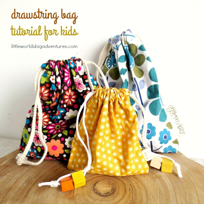 Drawstring Bag Tutorial For Kids Little Worlds Cool Drawstring Bag Pattern