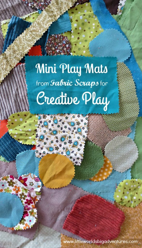 Making Mini Play Mats from Fabric Scraps for Creative Play