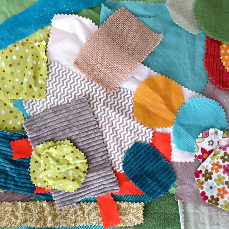 Making Mini Play Mats from Fabric Scraps