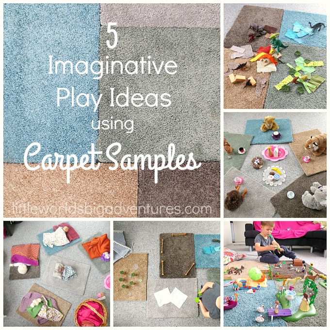 5 Imaginative Play Ideas using Carpet Samples