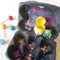 Egg Carton Galaxy Craft for Preschoolers
