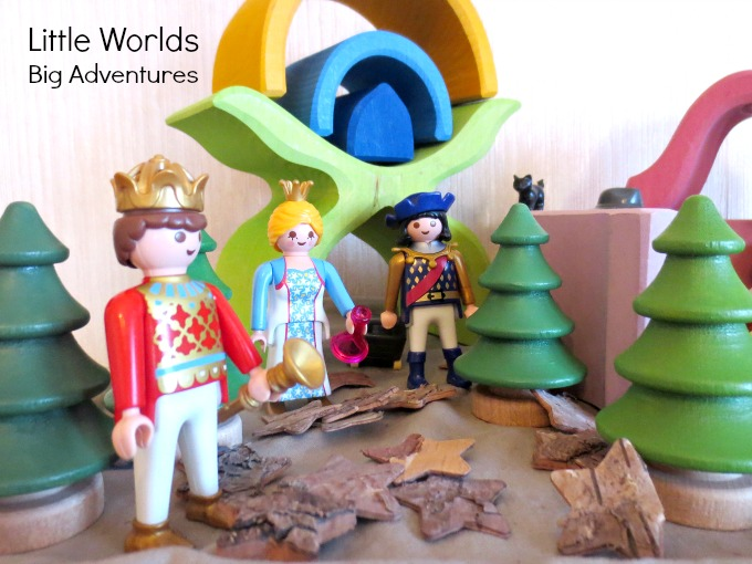 Create a Nativity Small World with Grimm's Wooden Toys