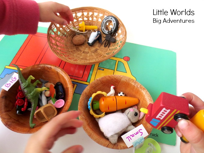 Simple BIG / small Sorting Activity for Preschoolers