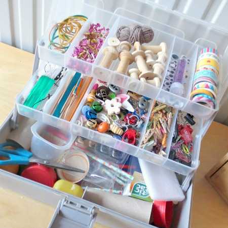 How to Put Together a Portable Tinker Box for Creative Play