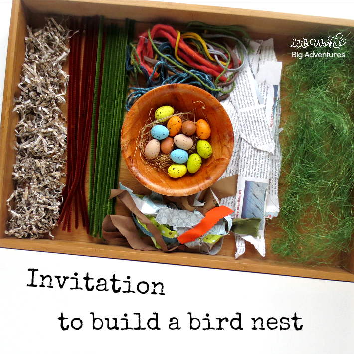 How to Set up a Creative Invitation to Build a Bird Nest