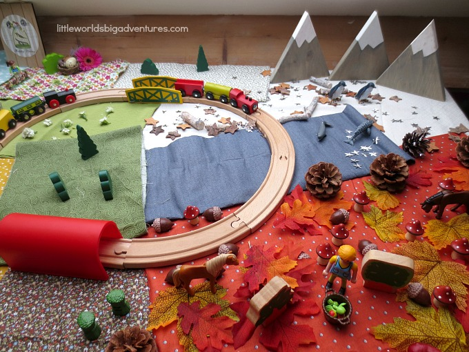 Four Seasons Train Track Small World