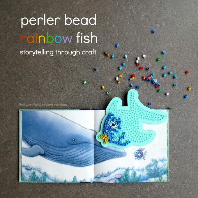 Make A Perler Bead Rainbow Fish For Pretend Play Little Worlds
