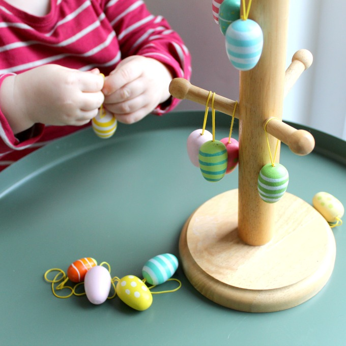 Easter Tree Decorating for Toddlers