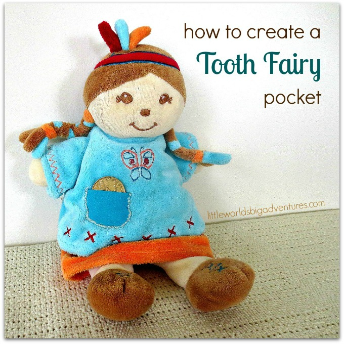 Tooth Fairy Craft Idea: Sewing a Pocket onto a Soft Toy