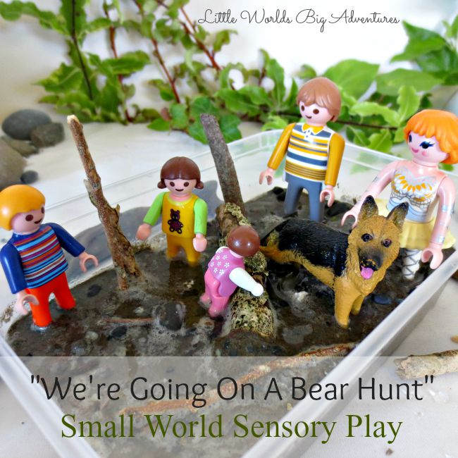 """Small World Sensory Play """"We're going on a Bear Hunt"""""""