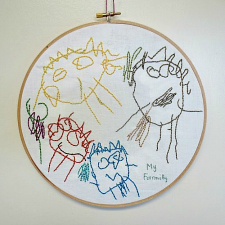 Kids Art Work Embroidery: from Drawing to Keepsake