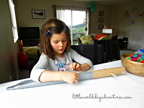 How to Make a Cardboard Sword for Kids and Dramatic Play