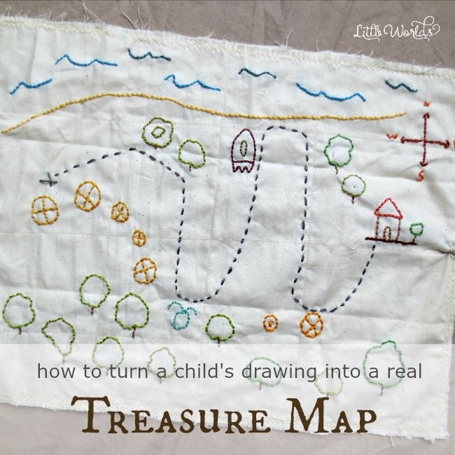Making Your Own Embroidered Treasure Map