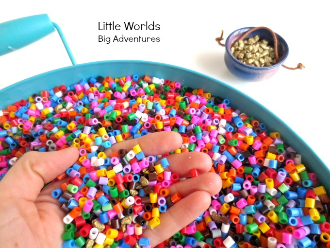 Find the Gold in the Rainbow Sensory Play