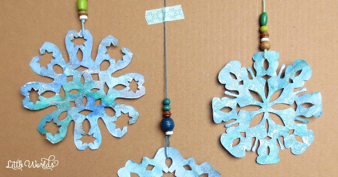 Making Paper Snowflakes, A Kid Made Winter Craft