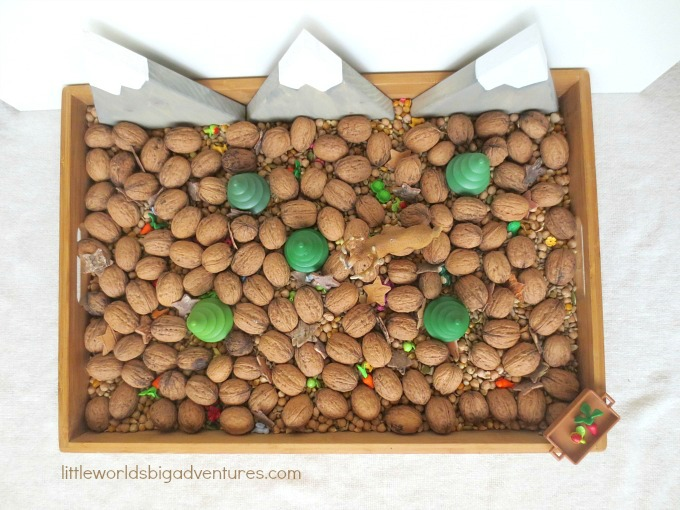 Searching for Food, a Fun Winter Sensory Play Activity