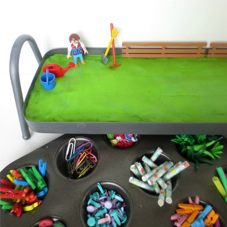 Invitation to Create a Play Dough Flower Garden