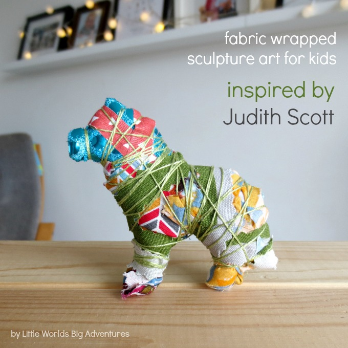 Fabric Wrapped Sculpture Art for Kids Inspired by Judith Scott