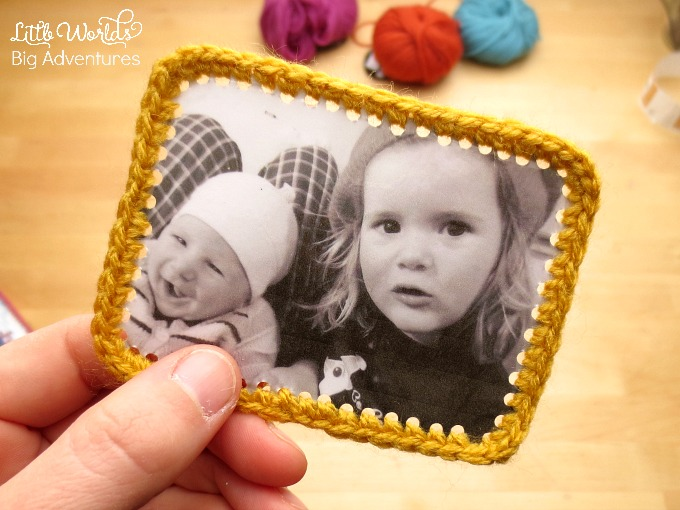 My Family and Me Crochet Framed Photographs